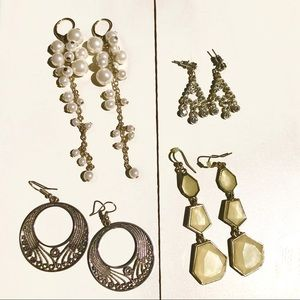 Jewelry - Small lot 4 Pairs of Costume Jewelry Earrings